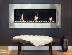 LOVE ME SOME BOB VILA-im a huge fan, awesome stuff sir!!! @BobVila - Cool stainless steel gas fireplace!
