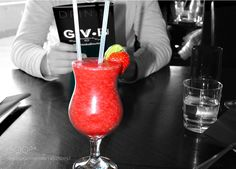 http://500px.com/photo/185992097 cocktail strawberry by xelvijsx -strawberry cocktail. Tags: cafecocktailrestaurantdrinksstrawberry cocktail