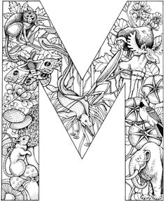 Letter M with Animals coloring page from English Alphabet with Animals category. Select from 26388 printable crafts of cartoons, nature, animals, Bible and many more.