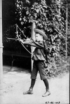 FDR - in Germany with bow and arrow. 1892.