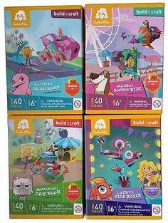 GoldieBlox Build & Craft Bundle of 4 Construction Toy Kits: Benjamin's Cat Nook,