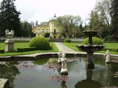 CR, Buchlovice Castle, spring in the garden Czech Republic, Golf Courses, Europe, Mansions, House Styles, Garden, Buildings, Inspirational, Spring