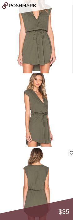 Jack by BB Dakota Green Dress Jack by BB Dakota green dress. The dress is in perfect condition. I've only worn the dress once but I should have gone up a size. I normally wear a medium in this brand. Fun the dress this dress with sandals or booties. Jack by BB Dakota Dresses