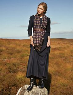 Light wool maxi dress. I could wear it shin length maybe. The belt helps bring it out of the 90s