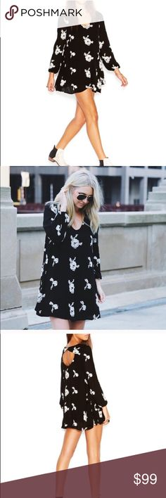 Free People Emma Dress Gorgeous black and white Emma dress slip on and go it's that great the fit and colors are amazing a truly amazing dress Free People Dresses Mini