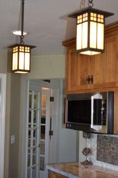 Craftsman kitchen moon night granite walnut floors ge monogram craftsman kitchen ge monogram appliances arroyo craftsman pendant lights mozeypictures Images