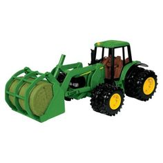 Learning Curve Big Farm John Deere Tractor with Bale Mover