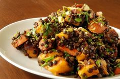 Moroccan Carrot, Mango and Lentil Salad