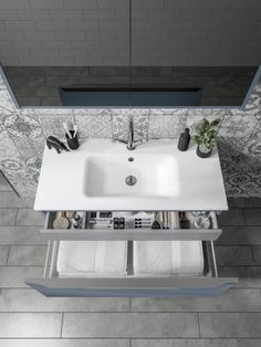 Grey industrial bathroom cabinet from Utopia Bathrooms. Industrial Bathroom Design, Halo, Bathrooms, Sink, Minimalist, Cabinet, Contemporary, Grey, Furniture