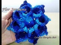 Flor de crochê para aplicação # Flor Jordana - YouTube