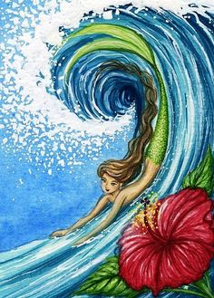 Hibiscus and Wave