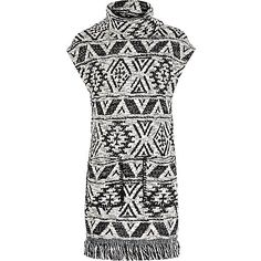 Girls black tasselled column dress - day dresses - dresses - girls
