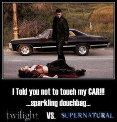 supernatural funny pictures | Twilight Vs Supernatural - BWAAAHAHAHAHAHAAAA!!!!!!!!!!!!! I watched the first episode and was a little freaked so I'm not sure if I'll keep watching.