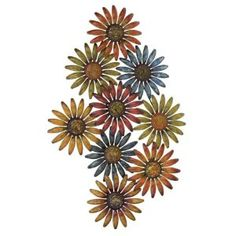 Classy Flower Metal Wall Art Decor by Exclusive Decor $99