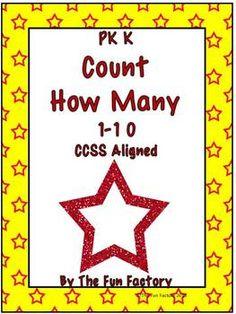 Freebie - Kindergarten CCSS Aligned - Count How Many