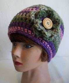 Ladies Colorful Chunky Crochet Beanie by KarensCrochetCottage