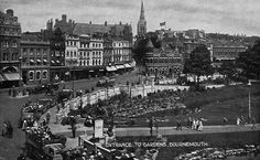 OVERLOOKING THE GARDENS Bournemouth, Buses, Old Houses, Paris Skyline, Past, Nostalgia, Gardens, Events, Holidays