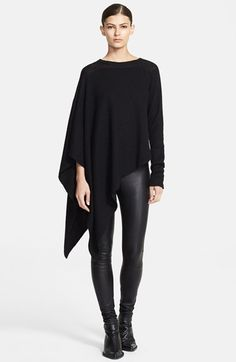 Helmut Lang Asymmetrical Alpaca Sweater available at Grunge Style, Soft Grunge, Helmut Lang, Fashion Business, Style Feminin, Looks Street Style, All Black Outfit, Jil Sander, Look Cool