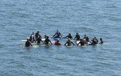 Surfers Prayer Circle - Huntington Beach - original