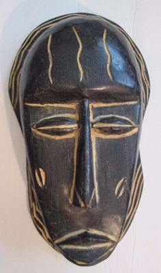 """NEW Hand Crafted Solid Wooden African Ghana Wall Mask 11 1/4"""""""