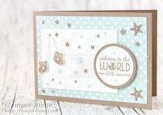 Stempel-Biene: Eine Karte zur Geburt mit Sweet Li`l One #Babykarte #Babycard #stempel-biene