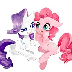 #1145931 - artist:shibashen, cute, pinkie pie, rarity, safe - Derpibooru - My Little Pony: Friendship is Magic Imageboard