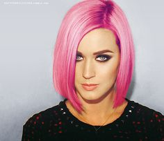 Katy Perry's Pink Hair✶ #Hair #Colorful_Hair #KatyPerry