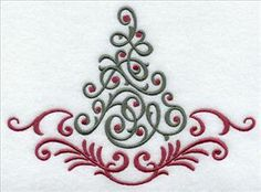 Contemporary Christmas Designs contemporary christmas tree | machine embroidery designs at