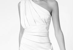 Asymmetrical glamour in white