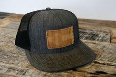 CO Proud Bamboo Trucker - Laser Engraved Caramel Bamboo Colorado Flag Handstitched Onto Stylish Black Chambray Denim Trucker Hat