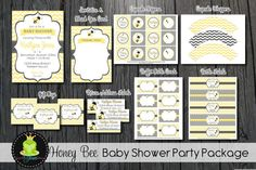 Bee Baby Shower Party Package  Baby Shower by ForeverYourPrints, $25.00