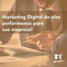 Tenha o marketing digital de sua empresa bem planejado, tornando possível a chegada do seu negócio ao seu cliente rapidamente, de forma relevante, personalizada e eficiente.    #MarketingDigital #F1MKTDigital