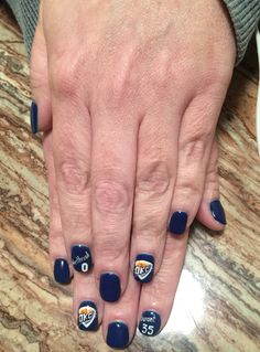 Okc thunder nail design nail designs pinterest thunder my okc thunder nails prinsesfo Image collections