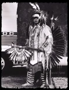 Native American Indian dancer by firrst nations photographer David Neel