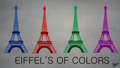 Eiffel's of colors