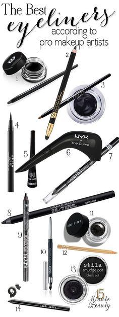 The Best Eyeliners According to #Makeup Artists http://traffurl.com/?g/2QANxSL