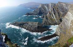 Taken Yesterday Overlooking the Atlantic Ocean and the Drop Below- Skellig Cliffs County Kerry Ireland [3200 x 4880] [OC] #reddit