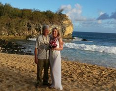 Michael and Susan had a wonderful wedding on shipwreck beach June 23rd