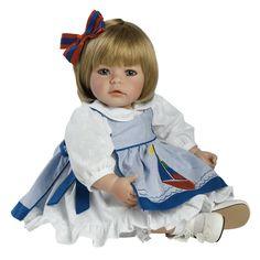 "Amazon.com: Adora Pin-a-four Seasons 20"" Play Doll Sandy Blonde Hair/Blue Eyes: Toys & Games"