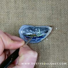 """41 Likes, 10 Comments - ❤ The Art of Nature & Dreams ❤ (@dustysoulsart) on Instagram: """"Miniature of St Mary's lighthouse handpainted in a mussel shell. #miniatureart #miniature…"""""""