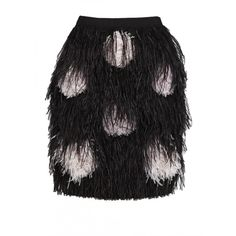 Matthew Williamson Feather Pom Pom Embroidered Skirt (107,820 MXN) ❤ liked on Polyvore featuring skirts, bottoms, gonne, saias, embroidered skirt, feather skirt, matthew williamson, dot skirt and polka dot skirt
