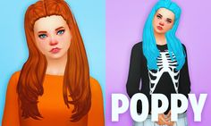 """holosprite: """" I clayified this hair months ago for Poppy - it seemed fitting! - and now I'm actually remembering to post it. It comes in all of EA's 18 colours as well as my Total Control v2 palette..."""