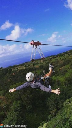 Located in pristine #Kapalua, this zipline course has 6 side-by-side lines totaling 2 miles of zipping fun. Breathtaking views, thrill seeking speeds, and ATV rides highlight the tour. West Maui, Atv Riding, Birds Eye View, Okinawa, Hawaii Travel, Phuket, Maldives, The Locals, Highlight