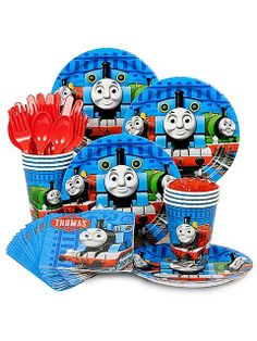 Thomas and Friends party kit. See more party ideas at BirthdayInaBox.com