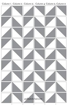 Motifs Granny Square, Half Square Triangle Quilts Pattern, Square Quilt, Half Square Triangles, Hexagon Quilt, Free Baby Quilt Patterns, Quilt Block Patterns, Pattern Blocks, Chevron Quilt Pattern