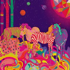 psychedelic colorful art