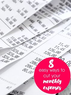 8 Easy Ways to Cut Your Monthly Expenses - The key is making cuts that are sustainable. Try these tips and improve your family's bottom line.
