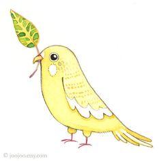 Lovebird, Watercolor illustration, Original painting, Bird art, bird wall art, Original watercolor painting, yellow lovebird (260 CNY) found on Polyvore