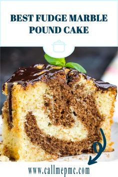 Best Fudge Marble Pound Cake is rich and buttery with the best vanilla and chocolate in every bite! #recipe #dessert #poundcake #poundcakepaula #cake #moist #chocolate Homemade Pound Cake, Pound Cake Recipes, Fun Easy Recipes, Gourmet Recipes, Cooking Recipes, Southern Food, Southern Recipes, Food Dishes, Main Dishes