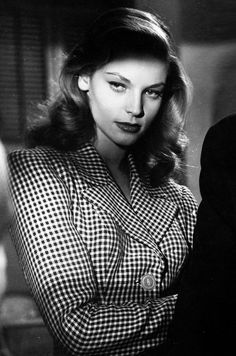 "The role that started Bogie and Bacall: Lauren Bacall in To Have and Have Not (Howard Hawks, 1944 ""Just put your lips together and blow"""